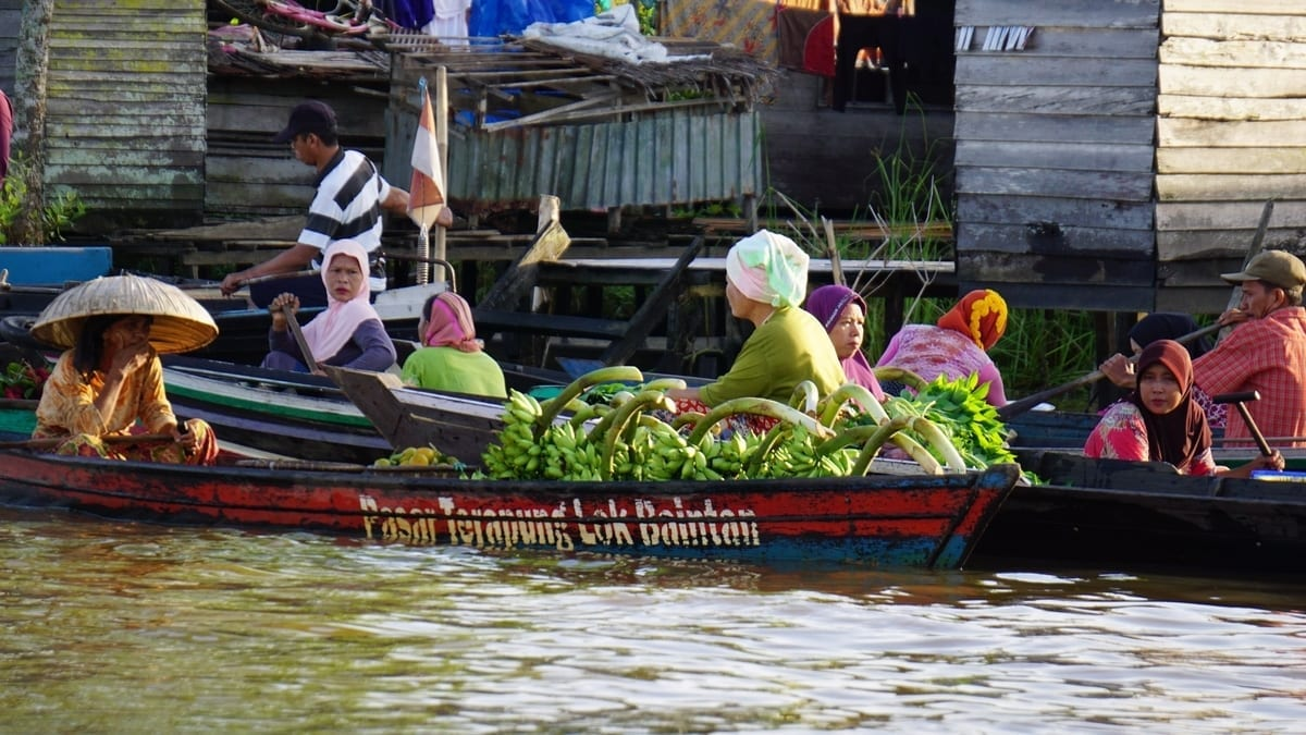 Lok Baintan Floating Market, Banjarbaru, South Kalimantan