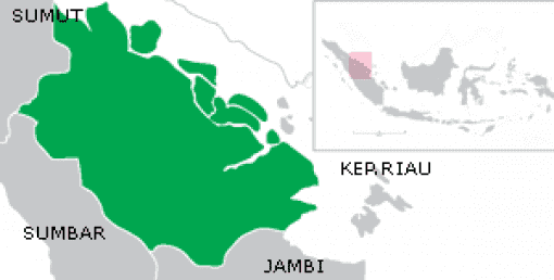 Map of Riau Province