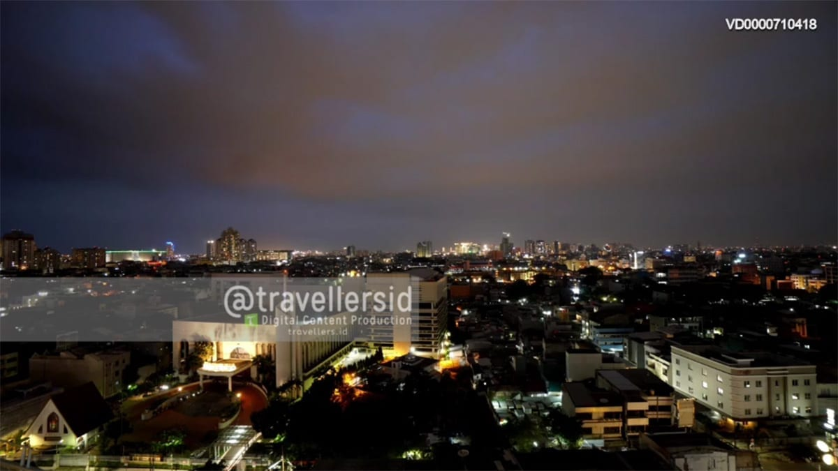 City Nightlapse at Glodok, West Jakarta, Indonesia