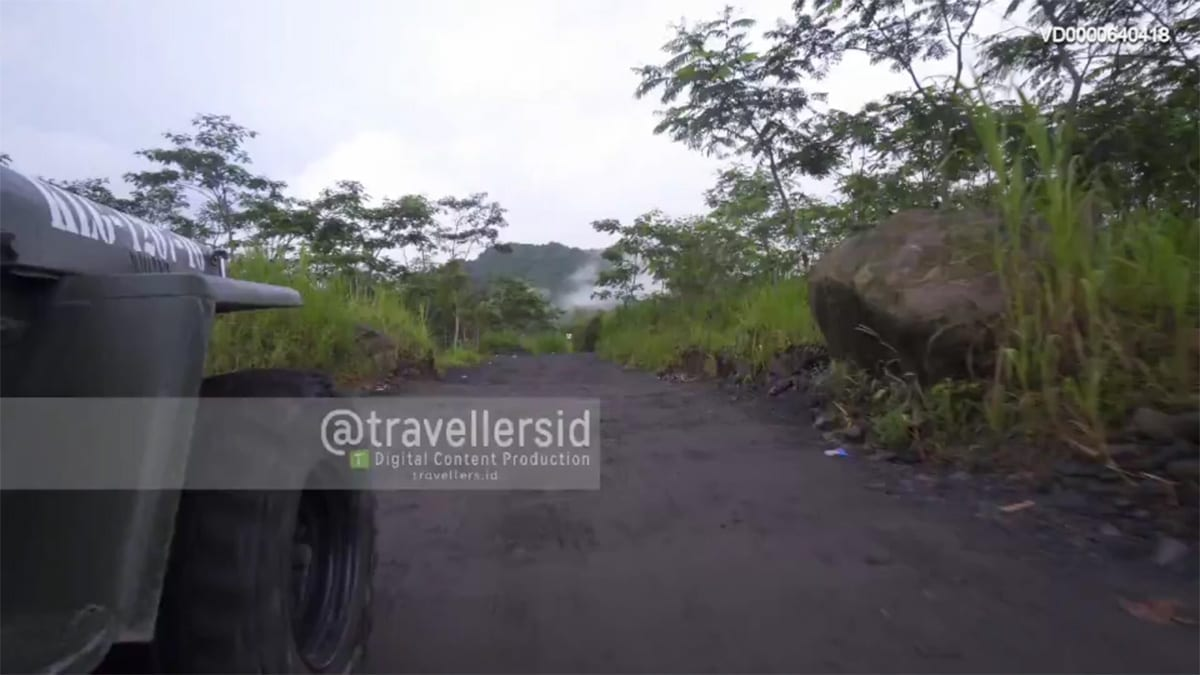 Riding a Jeep at Mt. Merapi, Sleman, Jogja, Indonesia