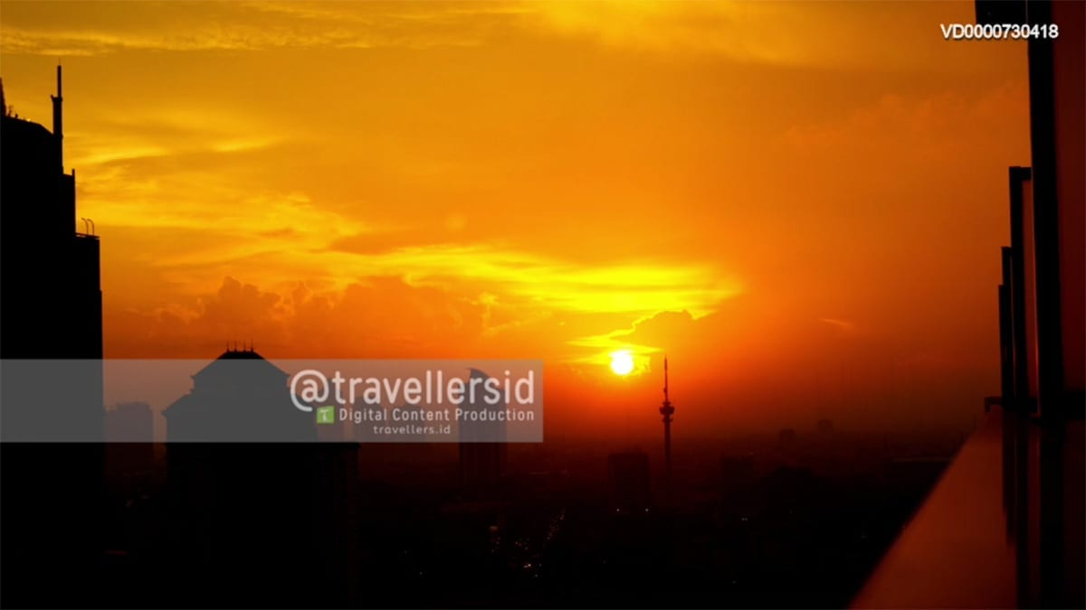 Sunset View at Sudirman, Central Jakarta, Indonesia