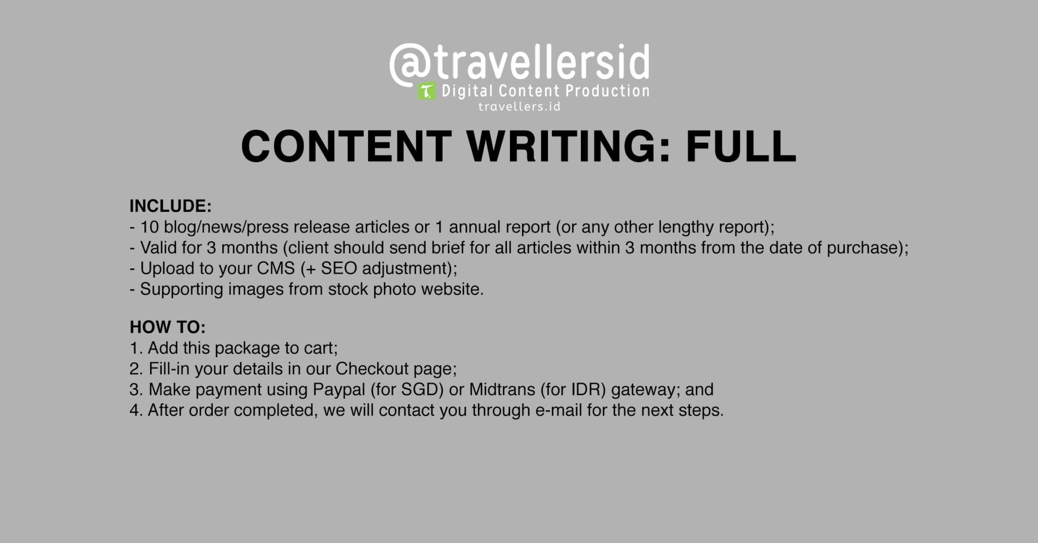@TravellersID Content Writing Services - Full