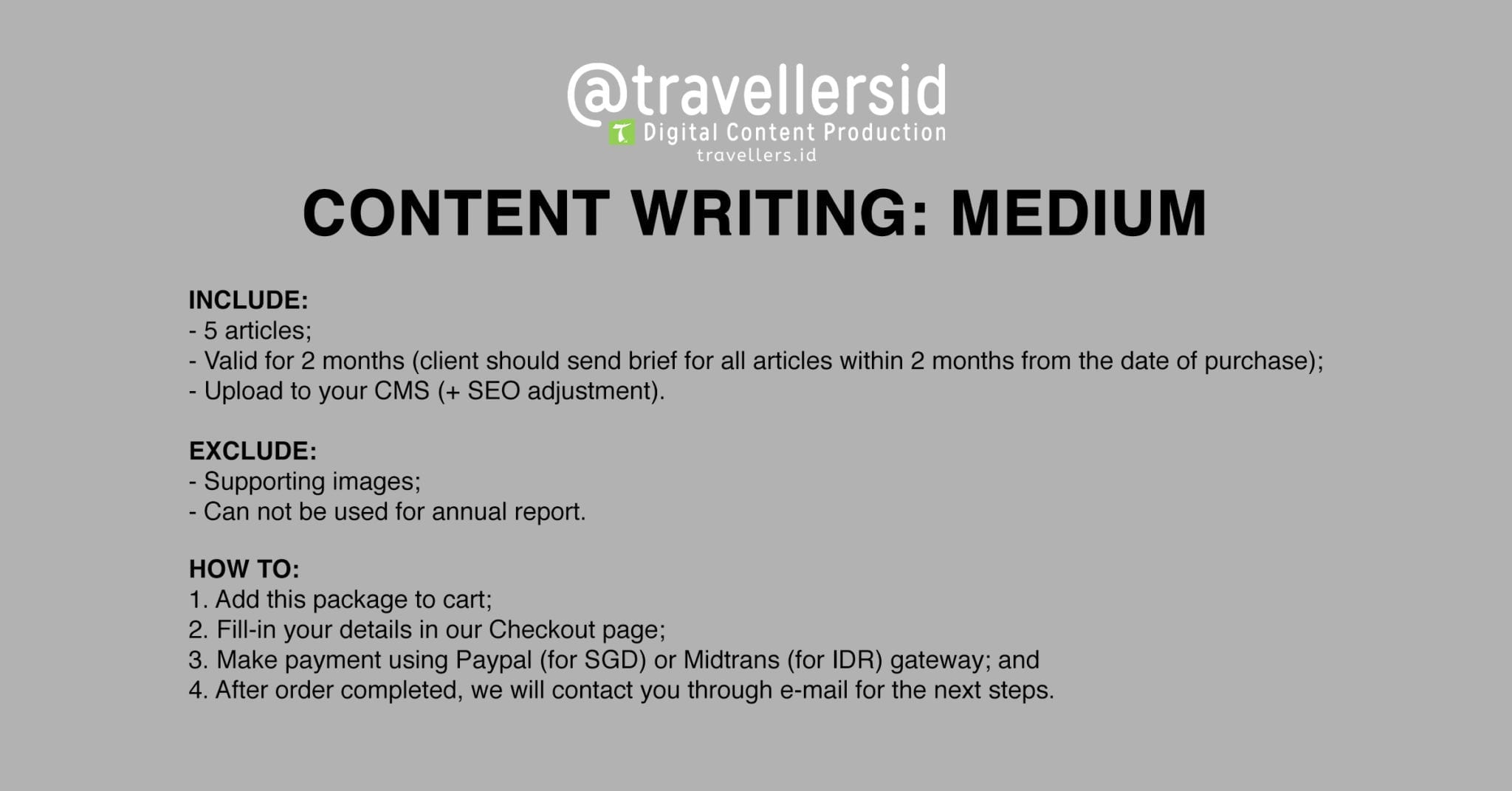 @TravellersID Content Writing Services - Medium
