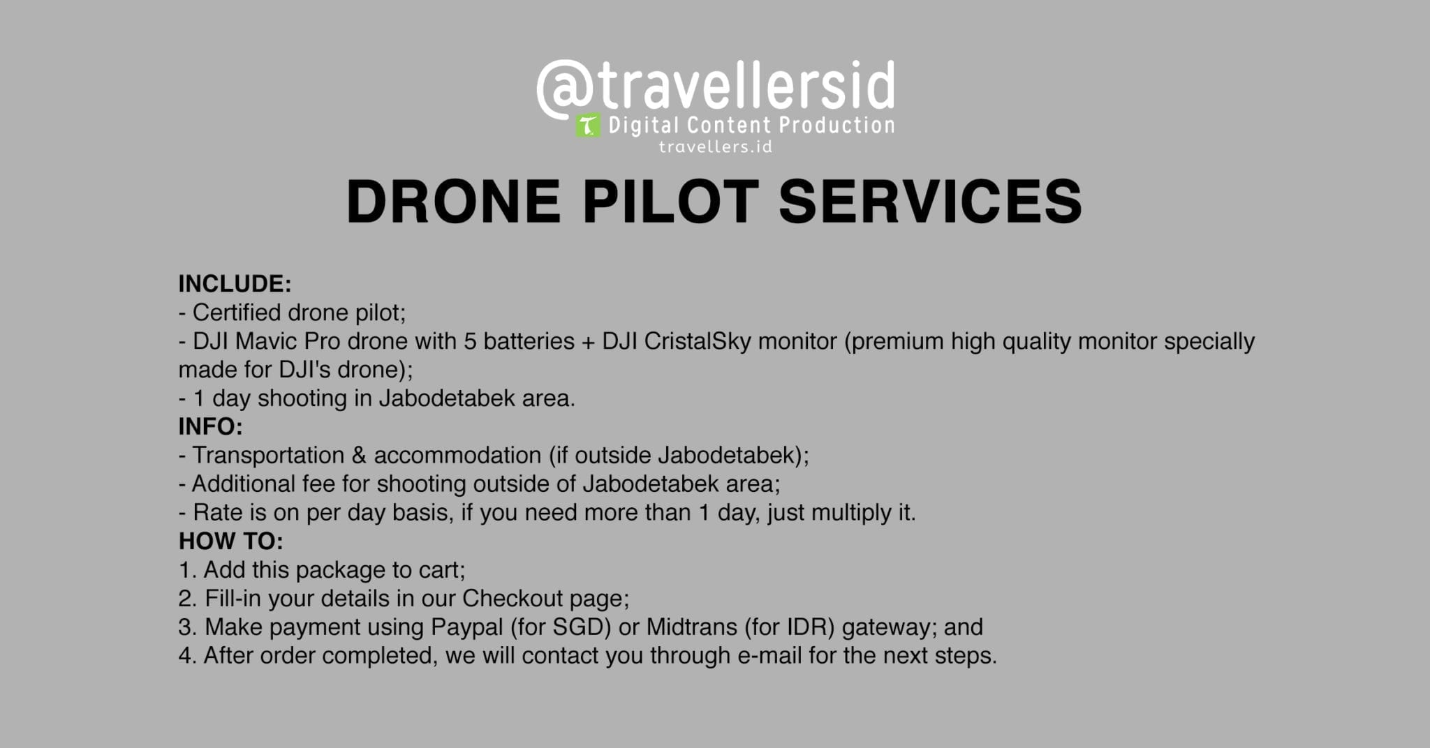 @TravellersID Videography Services - Drone Pilot
