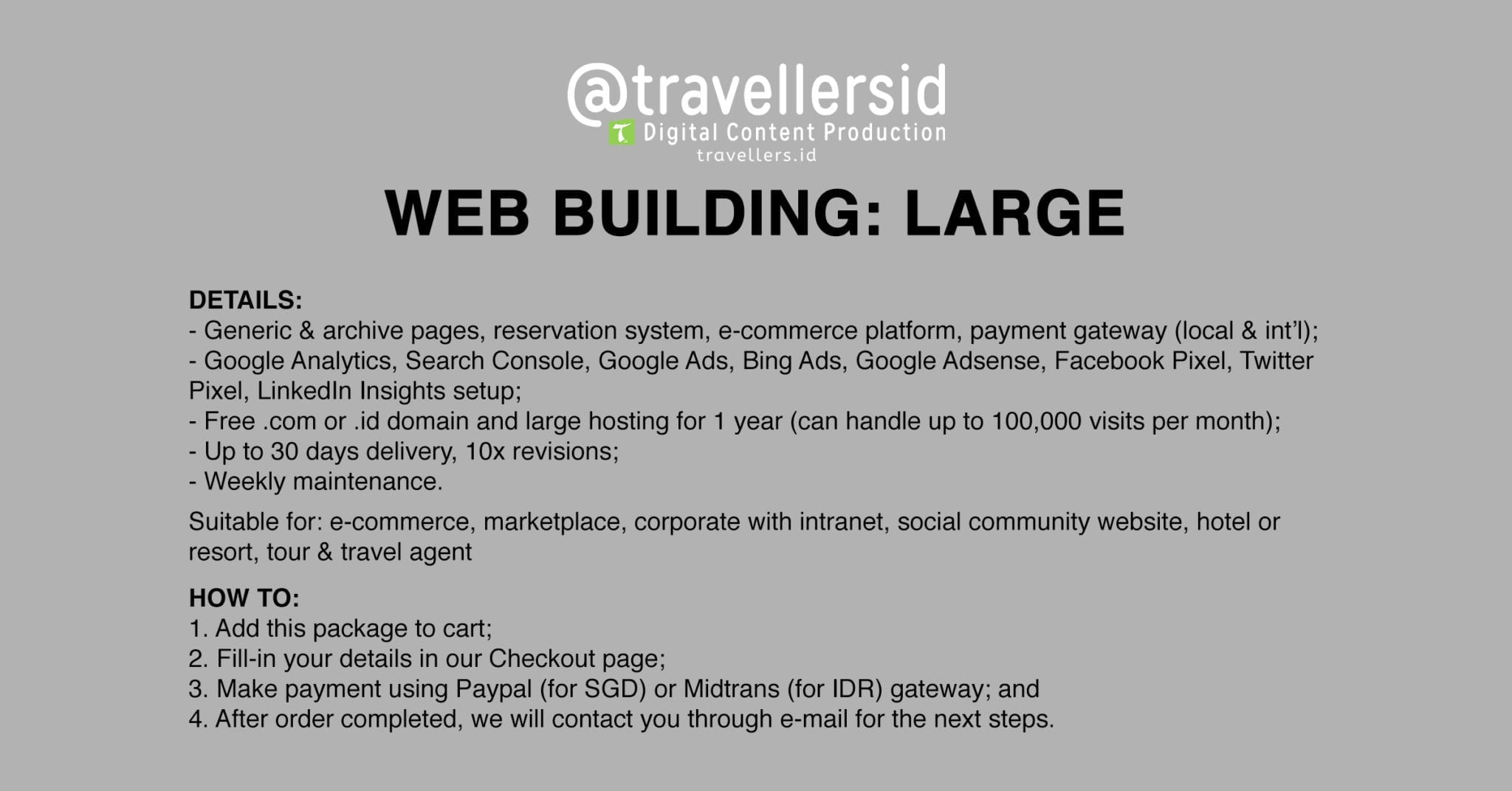 @TravellersID Web Building Services - Large