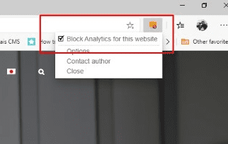 Block Myself from Analytics Browser Extension Setting