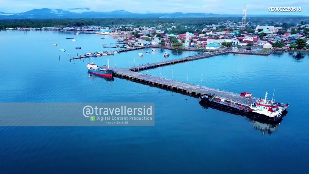 Daruba Ferry Harbour, Morotai, North Maluku, Indonesia