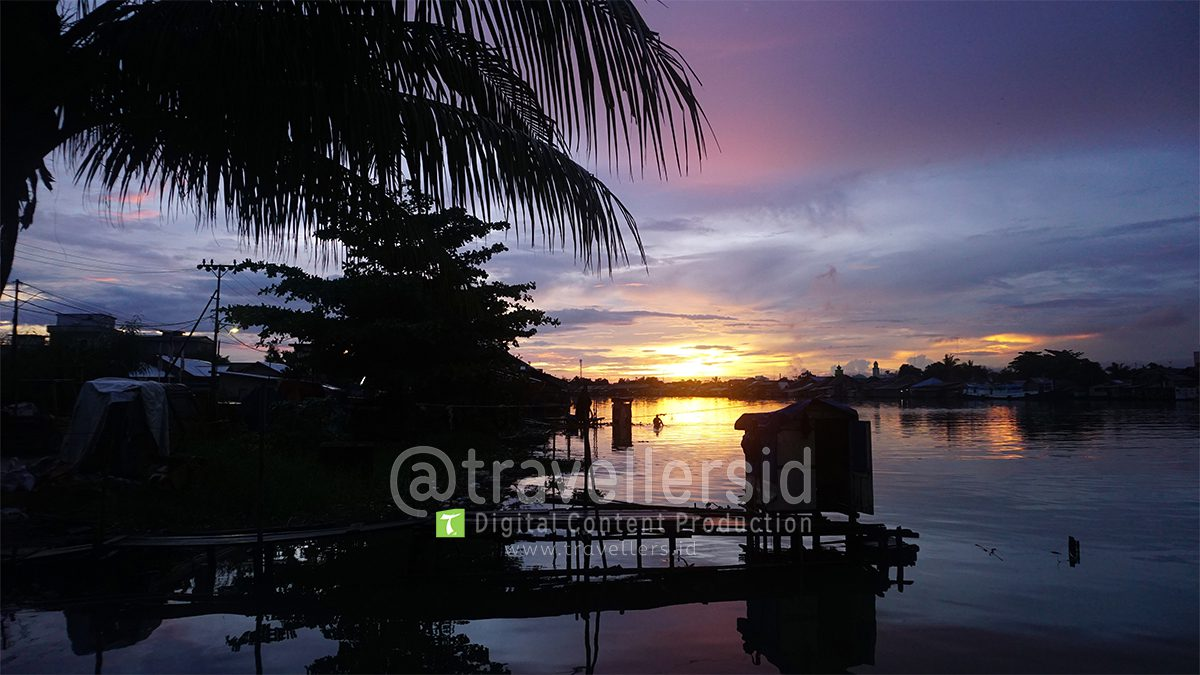 Sunset at Martapura River, Banjarmasin, South Kalimantan, Indonesia