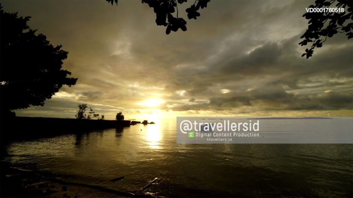 Sunset at Morotai Island, North Maluku, Indonesia