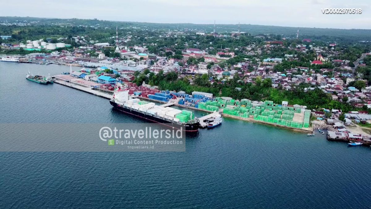 Tual City Harbour, Maluku, Indonesia