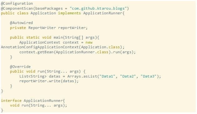 Spring Boot coding sample