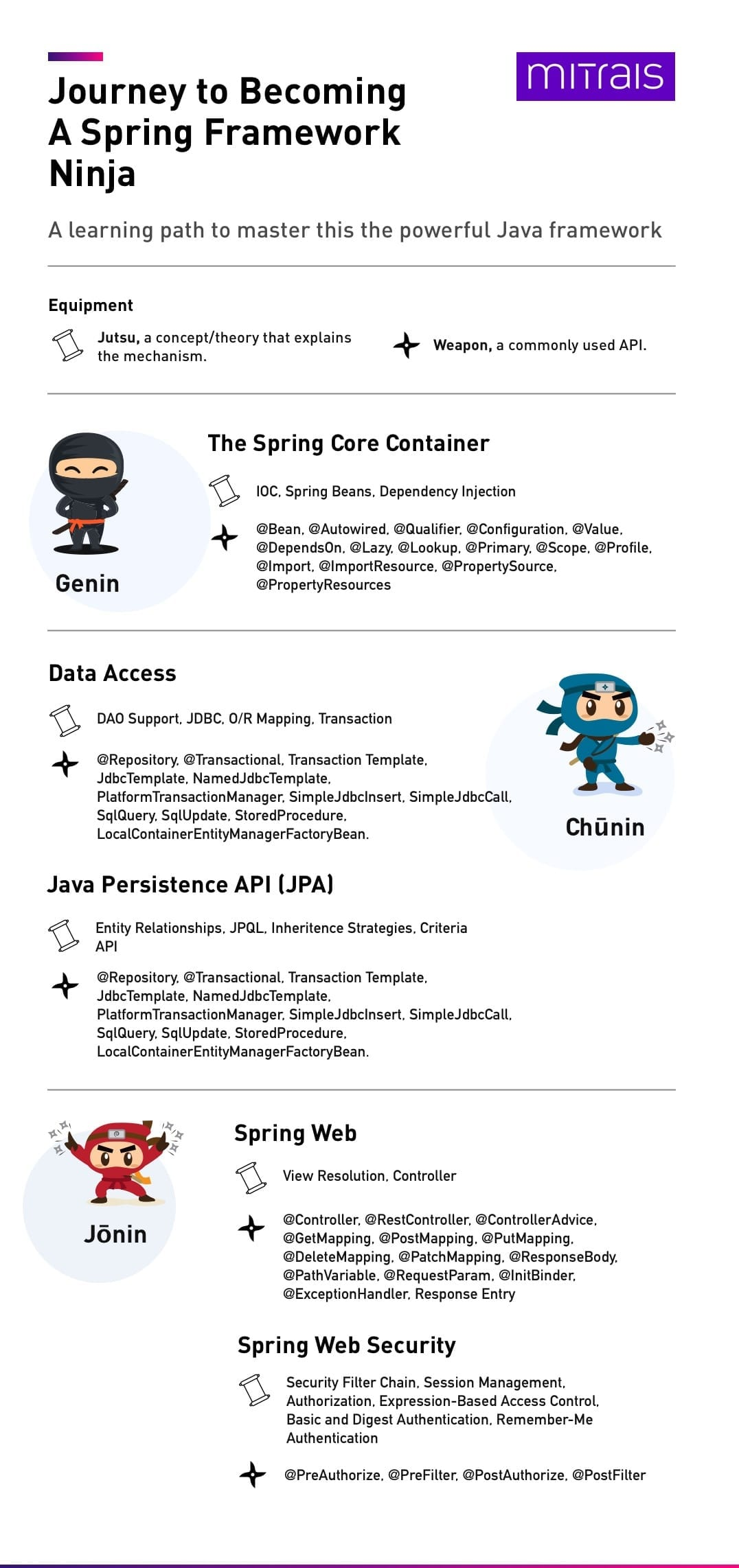 Journey to Becoming A Spring Framework Ninja infographic