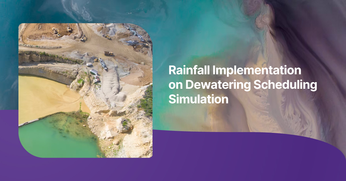 Rainfall Implementation On Dewatering Scheduling Simulation_Mitrais